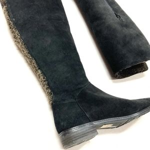 Stuart Weitzman Suede/Shearling Boots - Size 8